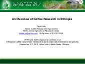 An Overview of Coffee Research in Ethiopia
