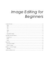 Image Editing for Beginners - Train...