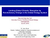 Limiting Global Climatic Disruption...