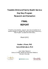 Day Stay Program - Research and Eva...