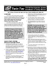 TCFI 3 Installation Manual