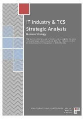Tcs+iit industry analysis