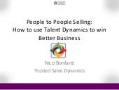 Nicci Bonfanti | People 2 People Selling | Trust Conference 2014