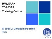 TDA/SAP Methodology Training Course Module 2 Section 9