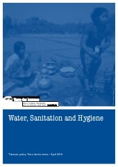 Tdh -Water, sanitation and hygiene