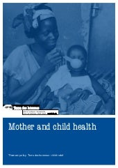 Tdh - Mother and child health
