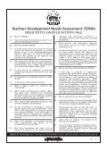 Teachers Development Needs Assessment (TDNA)  advert
