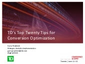 TD's Top 20 Tips for Conversion Opt...