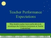 Teacher performance expectations