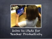 iPad Teacher Productivity