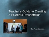Teacher's guide to creating a power...