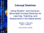 Teaching and assessing in-depth understanding of fundamental concepts using concept sketches