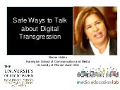Safe Ways to Teach about Transgression