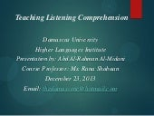 Teaching Listening Comprehension
