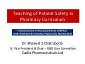 Teaching of Patient Safety in Pharm...