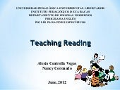 Teaching reading 1