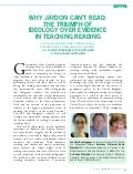 Teaching Reading in Australia Article - Buckingham, Wheldall, Beaman-Wheldall.