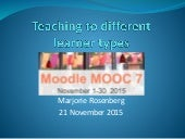Teaching to Different Learner Types