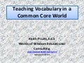 Teaching vocabulary in a common core world