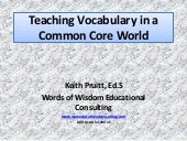 Teaching vocabulary in a common cor...