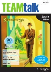Team talk-issue-april 2013 kleeneze