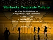 Starbucks Corporate Culture
