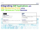 Integrating sap with web sphere portal