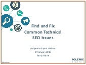 How to Find and Fix Common Technical SEO Issues