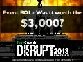 Event ROI for startups - Was #DisruptBerlin worth the $3,000?