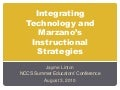 Integrating Technology & Marzano's Instructional Strategies
