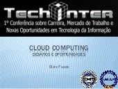 Cloud Computing: Desafios e oportun...