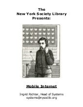 NYSL Technology Workshop: Mobile In...