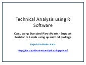 Technical Analysis using R Software - Calculating Standard Pivot Points - Support Resistance Levels