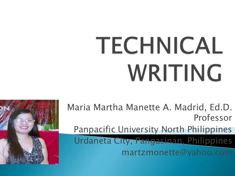 Products of technical writing