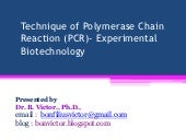 Technique of polymerase chain react...