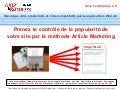Methodes d'echange de liens par article marketing
