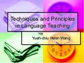 Techniques and principles in langua...