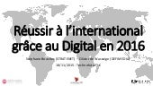 Réussir à l'international grâce au digital en 2016