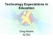 Technology Expectations in Education