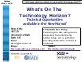 What's On the Technology Horizon?