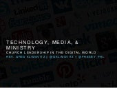 Theology of Technology, Media, and Ministry