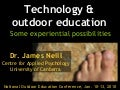 Technology and outdoor education: Some experiential possibilities