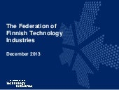 Finnish Technology Industry Dec 201...