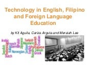 Technology in english, filipino and...
