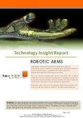 Technology Insight Report   Robotic...