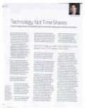 Technology Not Time Shares - Andy Blumenthal