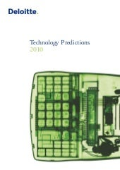 Deliotte: Technology Predictions 2010