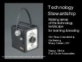 Technology Stewardship Resource Slides - Girl Scouts Leadership Conference