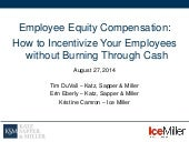 Employee Equity Compensation: How to Incentivize Employees without Burning Through Your Cash