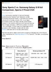 Sony Xperia Z vs. Samsung Galaxy S ...